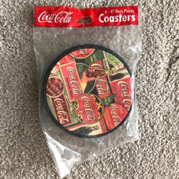 Coca Cola Other - Coca-Cola Deco plastic coasters